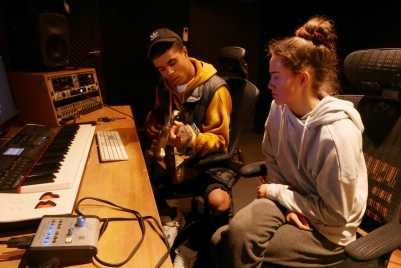 Maya and Jerome_Recording Maya's See You Again song_Next Level Studio_Melbourne_20171003_0007a