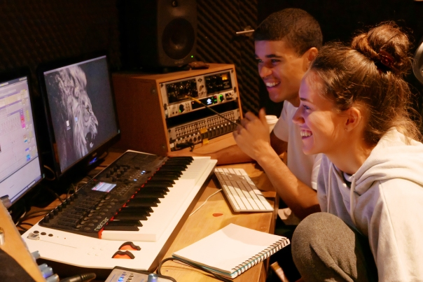 Maya and Jerome_Recording Maya's See You Again song_Next Level Studio_Melbourne_20171003_0031a